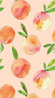 ● Peach watercolor painting