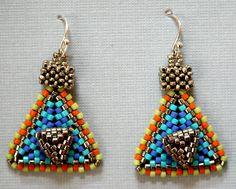 Nita E Kaufman-Got a bit crazy! Peyote and right-angle weave tops. SOLD.
