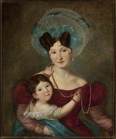 Muzeum Cyfrowe dMuseion - Portret Marii Anny Rawiczowej z synkiem