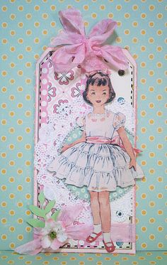 Vintage Tag...with paper doll