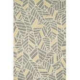Found it at Wayfair - Tropez Grey & Gold Tropical Inspired Indoor/Outdoor Area Rug