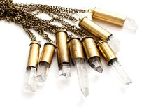 Crystal Bullet Necklace by JosignArt on Etsy