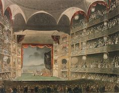 Drury Lane Theatre, Regency England - apparently the theatre-goers behaved very rudely during performances.