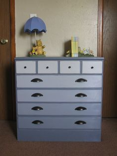Image result for chalk painted dresser ombre