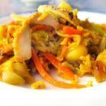 Chicken Curry Apple Stir-Fry Recipe with Art ...