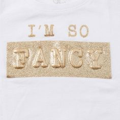 Image for Toddler Girls Short Sleeve 'I'm So Fancy' Graphic Tee from The Children's Place