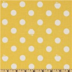 So Cool!- some of the dots are actually apples! - Apple of My Eye Apple Dot Yellow