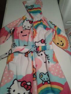 Hooded Robe All season Blizzard Fleece 3/4 sleeve size 6 - 8