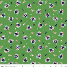 Country Girls Floral in Green- Tasha Noel - Riley Blake Fabrics