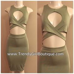 Sage Cross Front Dress (Clearance🚨)