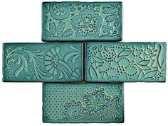 "EliteTile Antiqua 3"" x 6"" Ceramic Subway Tile in Feelings Lava Verde"
