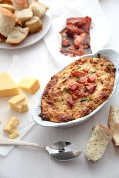 Smoked Salmon dip with Gouda and Caramelized Onion - www.countrycleaver.com