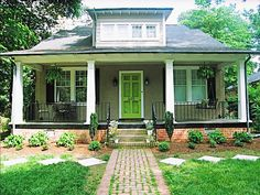 lime-green-and-foliage-Stylelist-ideas-for-painting-your-front-door-color-inspiration