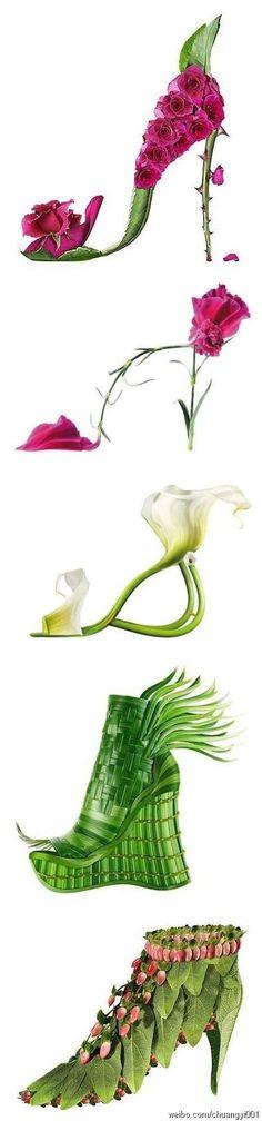 一组极有创意的环保鞋子