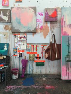 Los Angeles painter Kim West opens up her studio and her handbag to Emily Henson's Life Unstyled for the latest edition of Secret Life Of Bags.