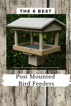Top 6 bird feeders for mounting on your post. Create your own beautiful feeding station with a post mounted feeder. Rustic Bird Feeders, Large Bird Feeders, Wood Bird Feeder, Bird Feeder Plans, Squirrel Feeder, Bird House Feeder, Best Bird Feeders, Bird Feeding Table, Bird Feeding Station