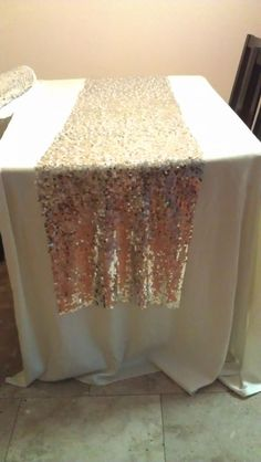 DIY sequin runners. Save $$!