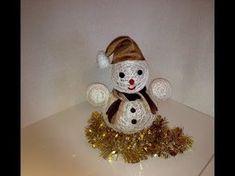 Снеговик своими руками из ниток - YouTube