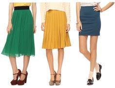 skirts - fashion tip for petite women