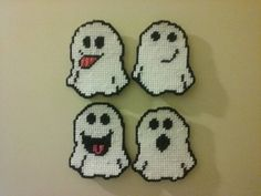 Plastic Canvas Ghost Magnets by CraftsbyLadyCricket on Etsy
