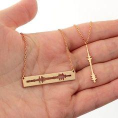 Custom Matching Couple Sound Necklaces Couple Necklace Set
