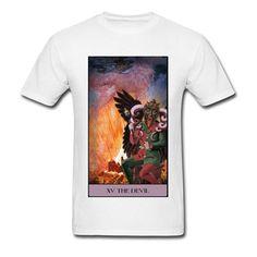 ef69c5e01ff6  8- 12 Printing Satan THE DEVIL T Shirts Luxury Mens Regular Short Sleeve  Full Cotton