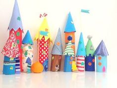 Paper Tube Kids Craft Castle | CrafTea