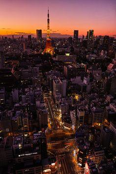 Sunrise, Tokyo Tower, Japan
