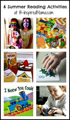 6 Great Summer Reading Book Activities for Kids and the Kids Co-Op at B-InspiredMama.com
