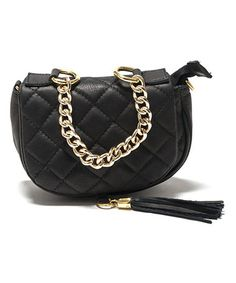 Look what I found on #zulily! Nero Quilted Leather Crossbody Bag #zulilyfinds