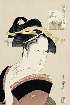 高島屋おひさ|喜多川歌麿|高名美人六家撰|浮世絵のアダチ版画オンラインストア