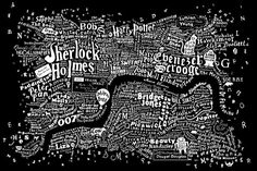 follow me @cushite The literary map of London is just beautiful. More than 250 novels were mined in order to make the Literary London Map, taken from the Literary London Art Collection. It was created by graphic artist Dex in collaboration with interior designer Anna Burles.