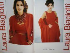 Cindy Crawford laura biagiotti | CINDY CRAWFORD rare ads LAURA BIAGIOTTI Kaprisky * Harper's Bazaar ...