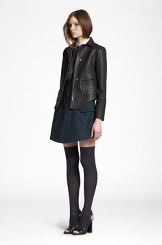 Winter 2013 CARVEN leather jacket