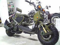 honda ruckus military   Go Away Garage: Fave Scooter