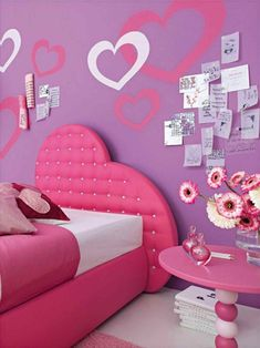 Art Princess Pink Bedroom Colors Ideas Teen Room Furniture Set For fashion-for-alina Purple Kids Rooms, Pink Bedroom For Girls, Pink Bedrooms, Teen Girl Rooms, Teenage Girl Bedrooms, Little Girl Rooms, Tween Girls, Pink Room, Girls Fun