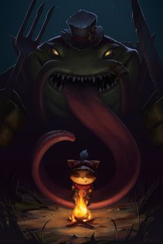 Tahm Kench: The River King, Robyn Lau on ArtStation at https://www.artstation.com/artwork/tahm-kench-the-river-king