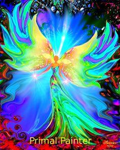 Ease is an 8 x 10 spiritual angel healing art print in my chakra line of reiki wall decor.    This healing angel art print would be a beautiful