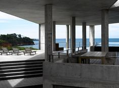 Love this Sri Lankan clifftop concrete home.    So cold, yet so warm & inviting!