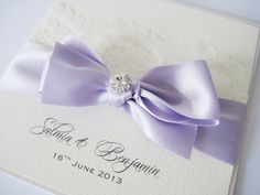lilac wedding invite - lilac, pearlescent white or textured card, white insert paper
