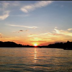 Lake Martin sunset -- place of engagement photos. the wedding ceremony will be done at sunset