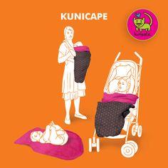 Kinderwagendecke, Tragecover, Sonnensegel... Ein KUNICAPE mit vielen Einsatzmöglichkeiten.  #Fußsack #tragecover #kinderwagendecke #winter #Baby #tragen #babytragen #tragetuch #Sonnensegel