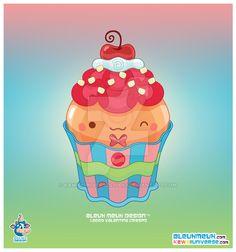 Kawaii Butterscotch Cupcake by KawaiiUniverseStudio.deviantart.com on @DeviantArt