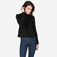 The right turtleneck can change your whole stance on winter. This one comes in a unique wool-cashmere knit with raglan sleeves, a notched-front hem, and a spacious neck (that's basically a built-in scarf).