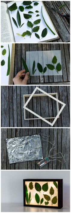 DIY Lightbox with summer souvenirs || DIY Lichtbox mit Fundstücken aus dem Sommer