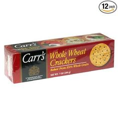 Carr's Whole Wheat Crackers, 7-Ounce Units (Pack of 12) from Carr's