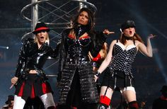 Janet Jackson performs at the Super Bowl in 2004.
