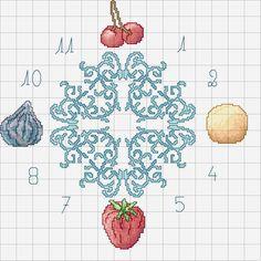 Schema punto croce Orologio Aglio