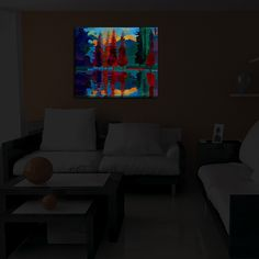 Illuminated Wall Art - Illuminated Wall ArtCustom built to order in Denver, Co.Built with LED's lasting 50,000 hoursOn/Off switch embeddedRemovable UL Listed 12v DC cord includedWeight between 4-12 LBsFrame depth: 3.25 inchesDiaNoche donates a portion from each light sale to charity