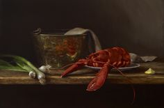 "Sarah Lamb, ""Lobster"", 18 x 27 inches, oil"